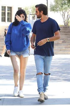 Scott Disick wearing Ksubi Van Winkle Jeans in Non Cents, John Elliott Classic Round Neck T-Shirt and Common Projects Suede Chelsea Boots