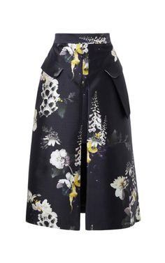 Vreeland Floral-Print Cotton-Blend Skirt by Ellery Now Available on Moda Operandi