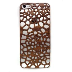 laser-cut wood pattern iphone cover - so cool!
