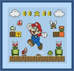 Super Mario Cross Stitch Pattern | Craftsy