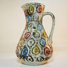 Keramik Fat Lava Vase • Jasba • 70's • Pop Art Design • Original Label