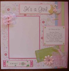 Best Fab scrapbooking layouts baby girl you may not know - 20 premade ba girl scrapbook pages shophandmade. Find another ideas about form our gallery. Bridal Shower Scrapbook, Baby Girl Scrapbook, Baby Scrapbook Pages, Kids Scrapbook, Scrapbook Supplies, Pregnancy Scrapbook, Paper Bag Scrapbook, Album Scrapbook, Scrapbook Sketches
