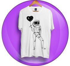 Camiseta Caebaça No Espaço - Camisetas estampadas alternativas - Roupas estilosas
