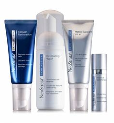 The NeoStrata Skin Active system combines powerful clinically proven ingredients that work synergistically in all layers of the skin to help reverse the visible signs of anti-ageing. Skin Active Exfoliating Wash / Skin Active Matrix Support SPF30 / Skin Active Cellular Restoration / Skin Active Intensive Eye Therapy. Potent formulations help stimulate cell renewal, even tone, boost collagen and protect against oxidative damage.