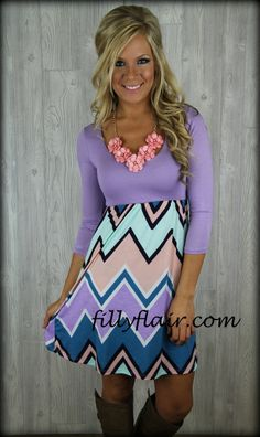 I WANT THIS!!! (http://www.fillyflair.com/all-shook-up-short-chevron-dress-in-lavender/)
