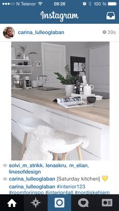 Kjøkken Kitchen, Table, Furniture, Home Decor, Interiors, Cooking, Decoration Home, Room Decor, Kitchens