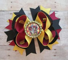 Harry Potter Inspired Hair Bow Harry Potter Gryffindor Hair