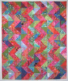 This quilt is by Exuberant Color.  I love Wanda's quilts.  They are always so colorful