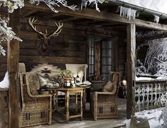 An Alpine lodge with a front row seat to the beauty of winter. #RLHome