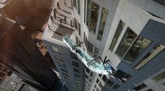 Quem gosta de adrenalina e fortes emoções vai adorar esta proposta de escorregador desenvolvida pela empresa de arquitetura Ludvik & Co. O Skyslide possui um fundo de vidro fechado que será instalado ao redor de um dos prédios mais altos do mundo, o Banco US, em Los Angeles, com 310 metros de altura.