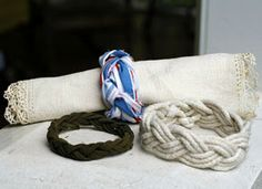 How-To: Sailor's Knot Bracelets. This will save me a lot of the money I want to spend on bracelets, napkin rings, etc.