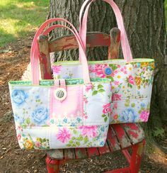 Vintage Hankie Tote Bags Wished I could have traced this to the original site.