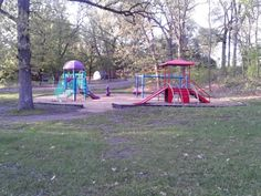 Kids play ground in Prospect Park. Hudson, WI . 5/23/13