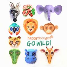 Mask templates to print: DIY mask making for kids. Printable tiger mask template and instructions. How to make animal masks: Tiger + 9 other animal masks! Animal Mask Templates, Printable Animal Masks, Zebra Mask, Animal Masks For Kids, Snowflake Template, Printable Activities For Kids, Craft Activities, Quick Crafts, Crafty Kids