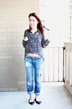 Animal Print and Boyfriend Jeans