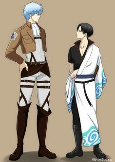 Attack on titan and Gintama crossover