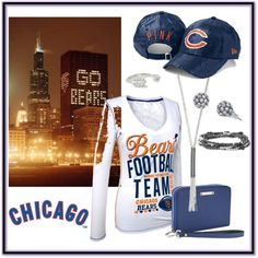 """Bear Down Chicago Bears"" by stagesinbetween on Polyvore"