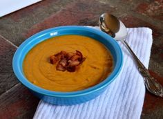 Paleo Apple-cider and Squash soup; I'll have to crock-pot this for school.
