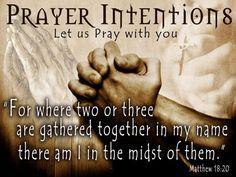 Prayer intentions.