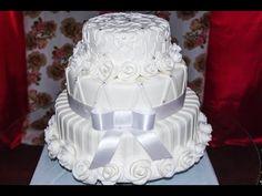 Demostração, bolo de casamento - YouTube