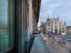 Hotel Duomo 21 in Duomo Square #Milan #Italy - Incredible view - The question is if the interior rapresents the modern Italian Lifestyle.