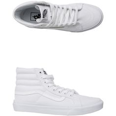 7e55c3f52f3329 Vans Canvas Sk8-hi Slim Shoe ( 55) ❤ liked on Polyvore featuring shoes ·  White High Top ...