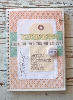 Project Life Organizer Notebook...especially nice for those of us who don't fill in our pages each week!