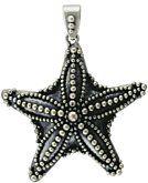 Bali Sterling Silver Starfish Pendant