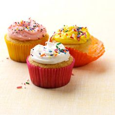 Very Vanilla Cupcakes Recipe from Taste of Home