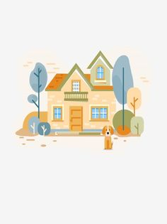 Tiny Prints, Prints For Sale, House Clipart, Cartoon House, Home Icon, Logo Concept, Home Logo, Cartoon Styles, Vector Design