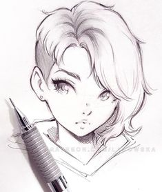 Read about drawing people - Zeichentechniken - Art Sketches Anime Drawings Sketches, Cool Art Drawings, Pencil Art Drawings, Anime Sketch, Pencil Sketch Drawing, Anime Face Drawing, Drawing Faces, Manga Girl Drawing, Man Face Drawing