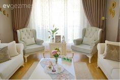 Kahve köşesi, Salon, Yeşil Pastel, Backyard, Curtains, Nice, House, Salons, Kitchens, Home Decor, Decoration