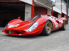 The Ferrari 330P racer - beautiful and  contemporary design by today's standards, but this car was racing in the Sixties!