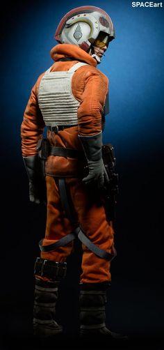 Star Wars: Luke Skywalker Rogue Group Snowspeeder Pilot, Deluxe-Figur (voll beweglich) ... https://spaceart.de/produkte/sw150.php