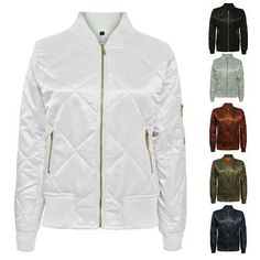 c7c5f6d5976 Coats Jackets and Vests 175783  Tada Ladies Ma1 Quilted Padded Satin Retro  Vintage Zip Bomber