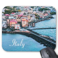 Ischia Ponte by Djura Stankovic on Naples, Souvenirs From Italy, Old Town, Old Things, Europe, Island, Water, Outdoor, Mousepad