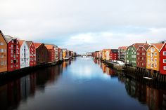 https://flic.kr/p/KdezwT | Colors in Norway. | Old Town Bridge view, Trondheim.  Six months in Norway.