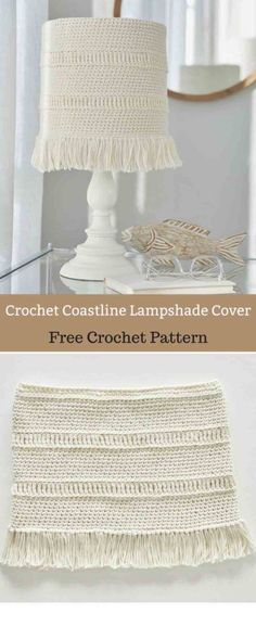 Add a bit of texture to a plain lampshade with this fringed cover.#freecrochetpattern #freecrochet #crochet3 #easycrochet #patterncrochet #crochettricks #crochetitems #crocheton #thingstocrochet