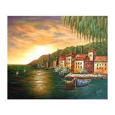 Naples Bay - Hand Painted Oil on Canvas - Signed by the artist