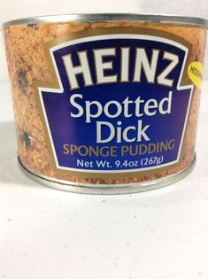 HEINZ Spotted Dick Can Prank Gag Gift White Elephant Party Fun Unopened Exp 5/14 #HEINZ #HenPartyBachelorBacheloretteBirthdayAdult #dick