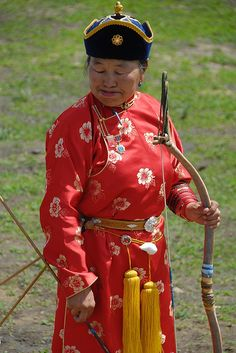 Archer - Mongolia. What a remarkable lady!