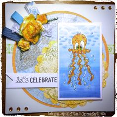 lets celebrate, birthday card, summer card...