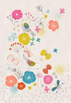Lovely Garden by Drawn by Rebecca Jones