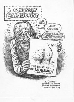 Aline was worried her hubby would get beheaded after this cartoon got published.. shortly after the Charlie Hebdo fracas