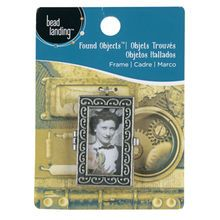 Bead Landing™ Found Objects™ Antique Silver Frame Pendant