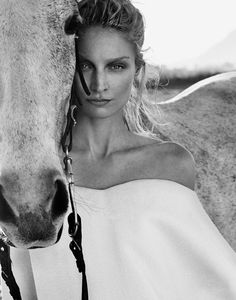 Racing Future's #Horses #Art #Fashion #Photo of the Day -- Xavi Gordo for Elle Russia w/ Melissa Tammerijn