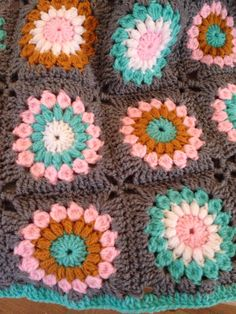 Sunburst granny square baby blanket with Stylecraft Special DK yarn