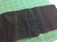 two different approaches to flat felled seams