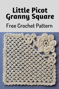 Little Picot Granny Square Is Really Unique And Amazing! [Crochet Diagram Pattern] – Knit And Crochet Daily Little Picot Granny Square Is Really Unique And Amazing! [Crochet Diagram Pattern] – Knit And Crochet Daily,Crochet. Crochet Afghans, Picot Crochet, Grannies Crochet, Knit Or Crochet, Crochet Motif, Crochet Crafts, Free Crochet, Crochet Stitches, Crochet Cushions