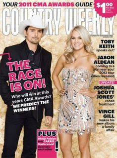 Carrie Underwood on the cover of Country Weekly